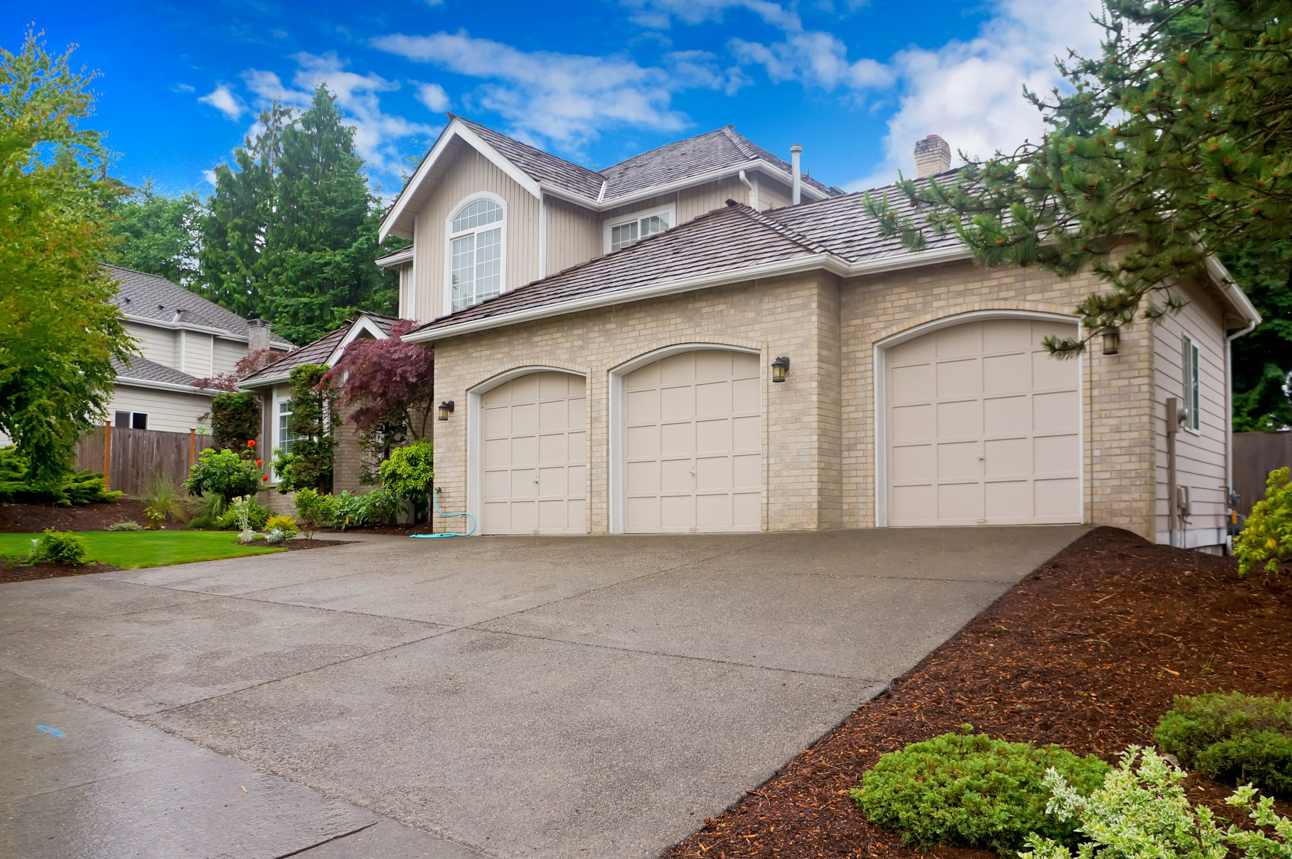 large concrete driveway for a home in Vancouver, WA